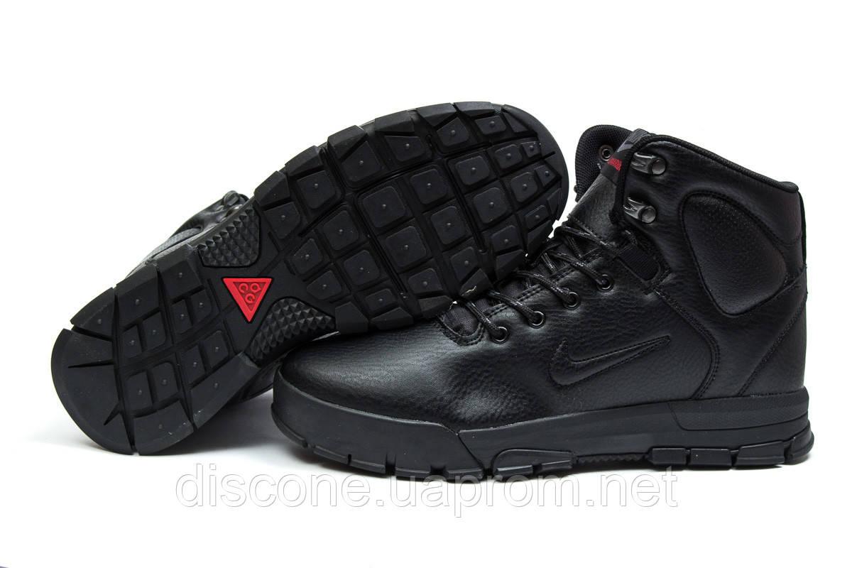 Зимние мужские ботинки 30523 ► Nike LunRidge, черные ✅SALE! % ► [ нет в наличии ]