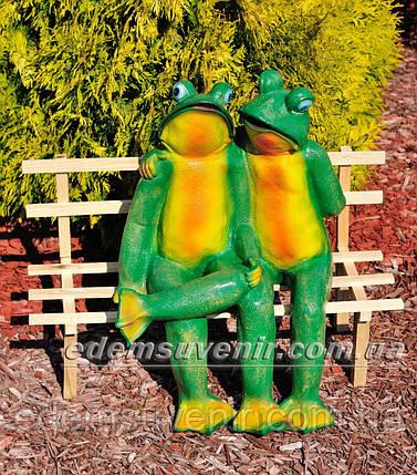 Садовая фигура Жабы на скамейке, фото 2