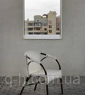 Плетеный стул из ротанга искусственного neapol белый, 58х61х80 см, фото 2