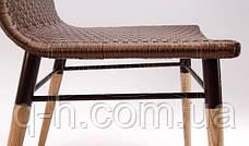 Плетеный стул из искусственного ротанга Original коричневый, 45х58х92 см, фото 2