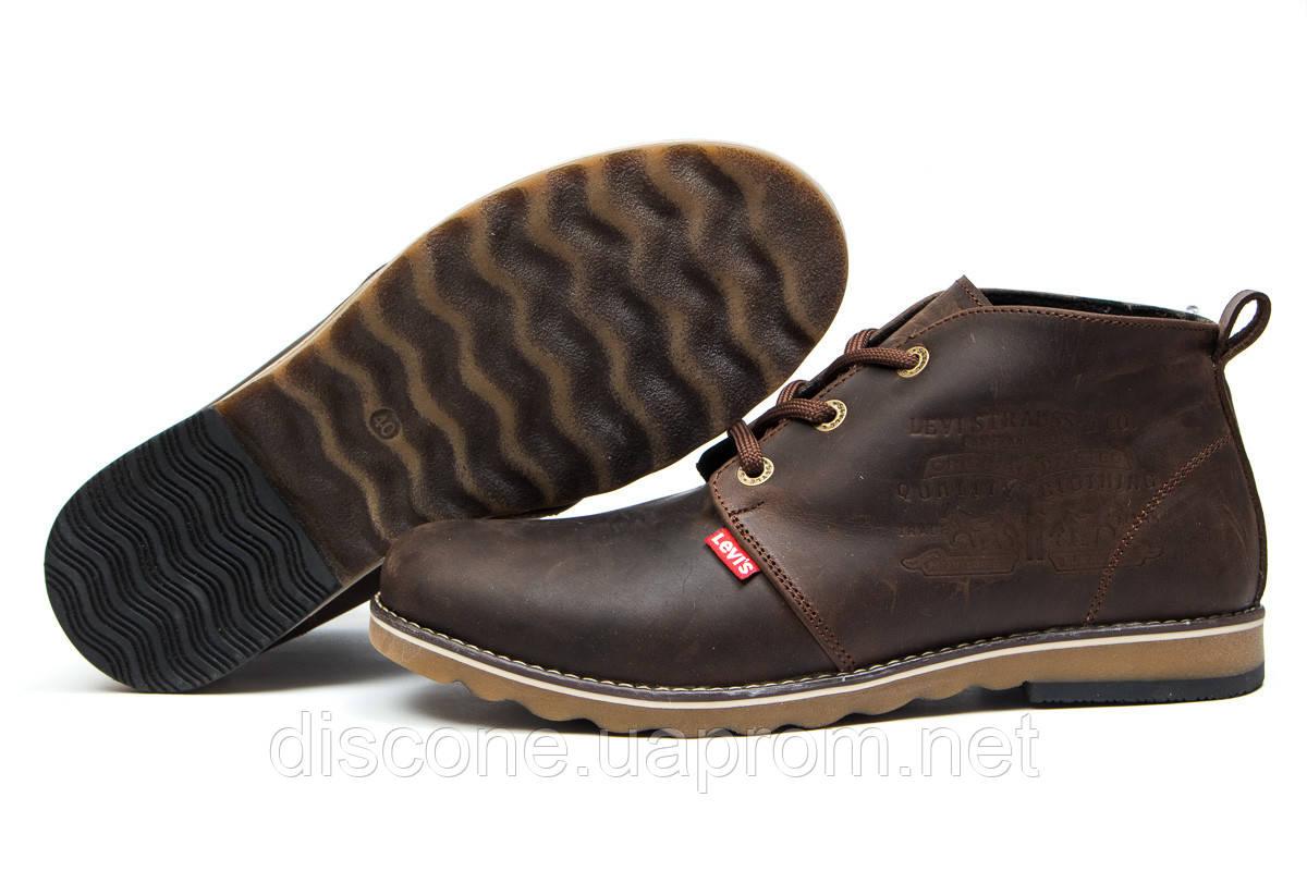 Зимние ботинки на меху ► Levi's Winter,  коричневые (Код: 30602) ► [  43 (последняя пара)  ] ✅Скидка 39%