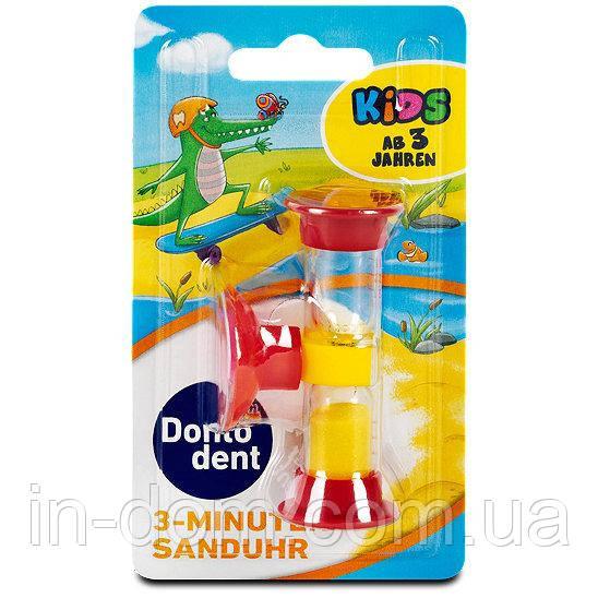Dontodent Kids 3 Minuten Sanduhr - детские песочные часы на 3 минуты красные