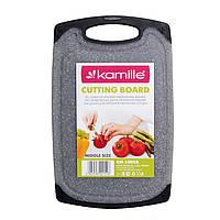 Доска разделочная 19.6х31см пластиковая (серый мрамор) KM-10058, фото 1