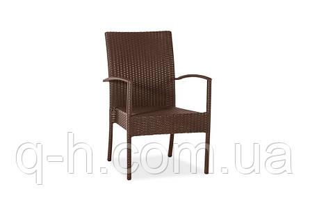 Плетеный стульчик из искусственного ротанга Маверик коричневый, 55х56х95см, фото 2