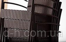 Плетеный стульчик из искусственного ротанга Маверик коричневый, 55х56х95см, фото 3