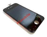 Дисплей экран с тачскрином, сенсором Apple iPhone 4S, 4GS черный High Copy