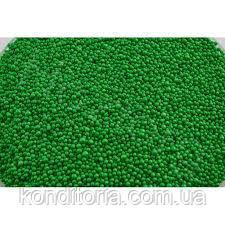 """Кондитерська посипання """"Нонпарель"""", Зелена, 2 мм. 100г.-50г."""