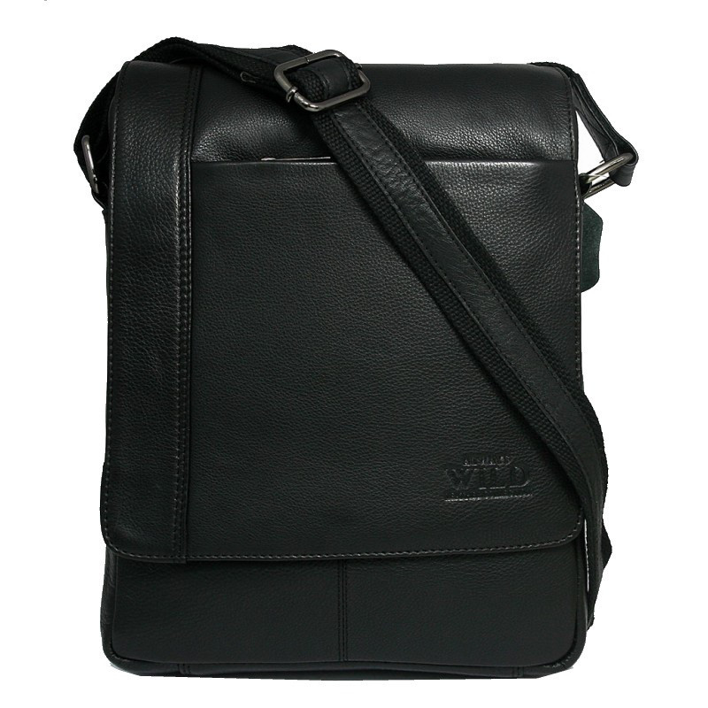 fa59e2b10813 Кожаная мужская сумка через плечо Always Wild 772-NDM black: продажа ...