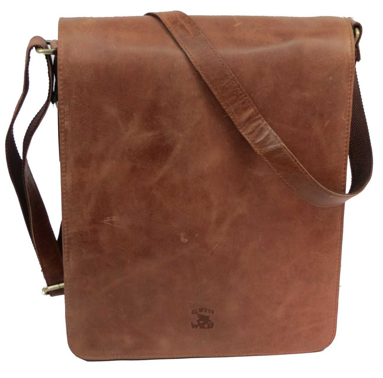 4dbf71d2c614 Мужская кожаная сумка планшетка Always Wild TIM-42 Cognac, 36х33х8 ...