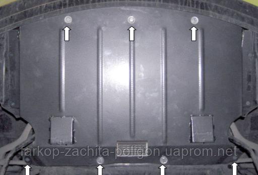 Защита картера BMW 5-й серии Е60/61 (V-2,0D;3,0) задний привод с 2003-2010 г.