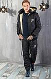 Костюм мужской теплый зимний на синтепоне найк,размеры: 48,50,52,54, фото 2