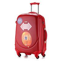 Ударопрочный средний чемодан Ambassador Classic A8503 Красный