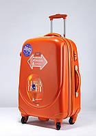 Ударопрочный средний чемодан Ambassador Classic A8503 Оранжевый