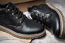 Зимние ботинки  на мехуTimberland, черные (30591) размеры в наличии ► [  42 43  ], фото 6