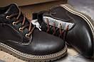 Зимние ботинки  на мехуTimberland, коричневые (30592) размеры в наличии ► [  40 43  ], фото 6
