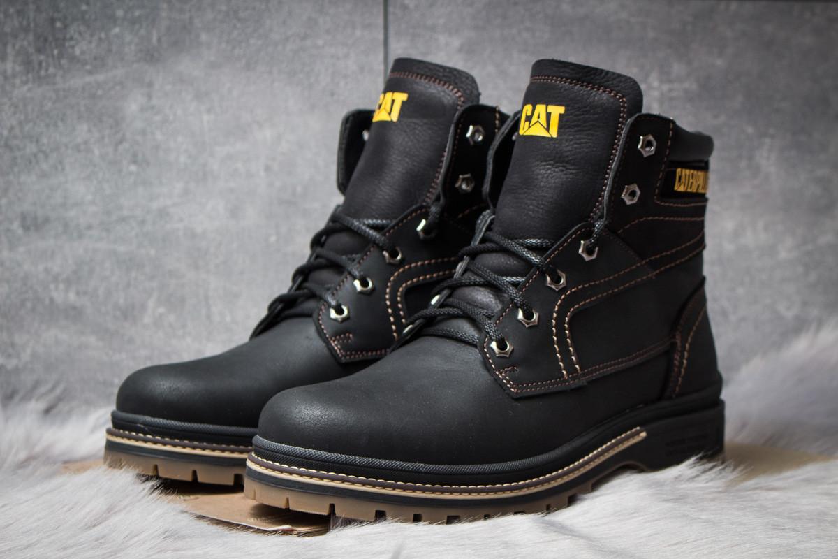 Зимние ботинки на меху CAT Caterpilar Anti-Glide, черные (30541),  [  40 41 42 43 44 45  ]