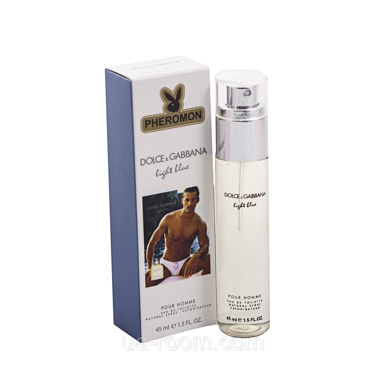 Мужской мини-парфюм с феромоном Dolce&Gabbana light blue Pour Homme , 45 мл.