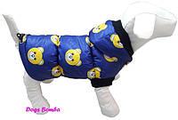 Водоотталкивающий теплый зимний жилет с капюшоном для собак DogsBomba