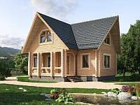 Дом деревянный из оцилиндрованного бревна 11х10 м