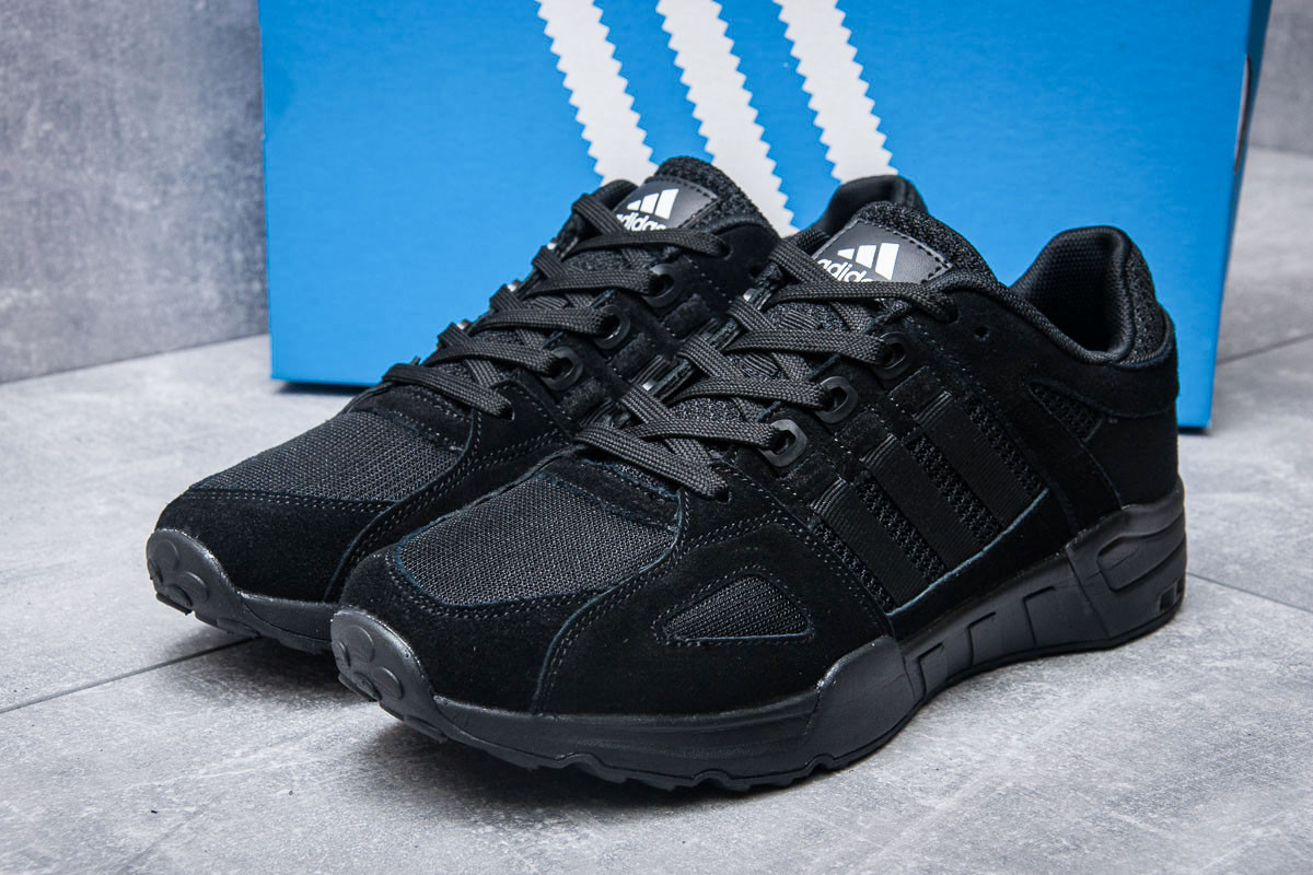 Кроссовки мужские Adidas EQT Support 93, черные (11654) размеры в наличии ► [  43 (последняя пара)  ]