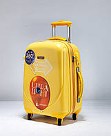 Ударопрочный средний чемодан Ambassador Classic A8503 Желтый
