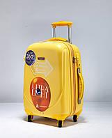 Ударостійкий середній валізу Ambassador Classic A8503 Жовтий, фото 1