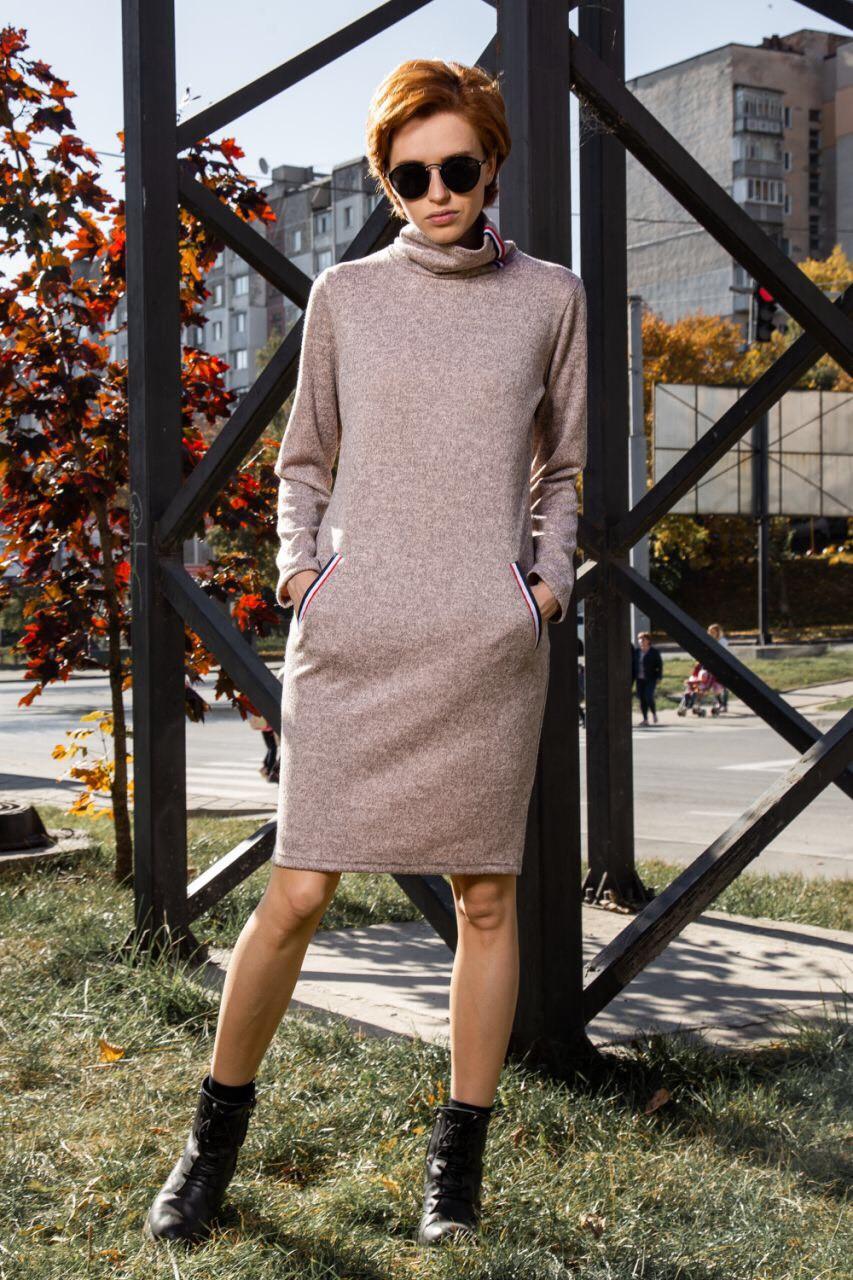 Женское платье с карманами 42,44,46,48