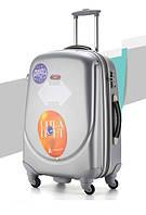 Ударопрочный средний чемодан Ambassador Classic A8503 Серый