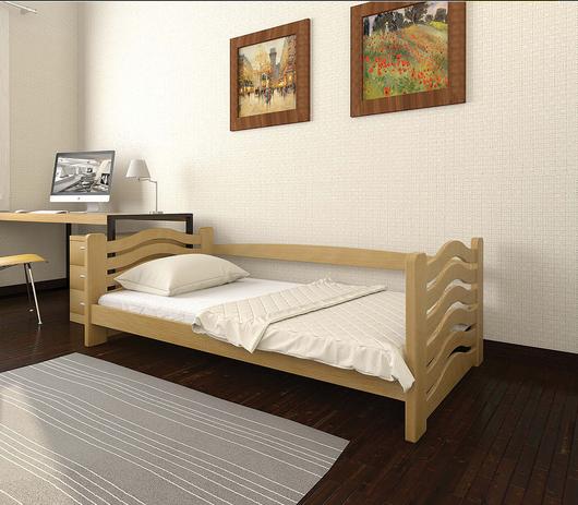 Ліжко дитяче з натурального дерева Міккі Маус Дрімка