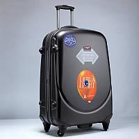 Ударопрочный средний чемодан Ambassador Classic A8503 Черный