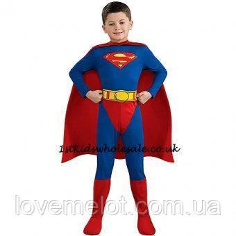 """Детский карнавальный костюм """"Супермен"""" с плащем, 8-10 лет на рост 140 и 146см"""