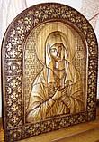 """Иконы резные из дерева. Икона Божией Матери  """"Умиление"""", фото 3"""