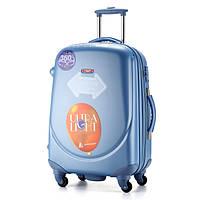 Ударопрочный средний чемодан Ambassador Classic A8503 Голубой