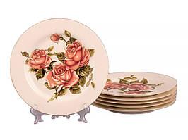 Набор из 6 тарелок Корейская роза 19 см 126-502