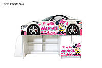 Детская кровать машина чердак Минни (комната 4)