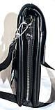 Мужская классическая барсетка Moltani из искусственной кожи хорошего качества 16*19 см (черный), фото 2