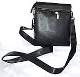 Мужская классическая барсетка Moltani из искусственной кожи хорошего качества 16*19 см (черный), фото 3