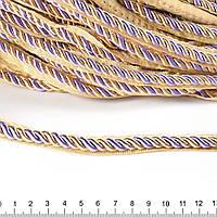 Кант-шнур вшивной 9мм тесьма 15мм сиреневый/шампань (60502.015-)