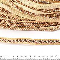 Кант-шнур вшивной 9мм тесьма 15мм шампань/карамель (60502.016-)