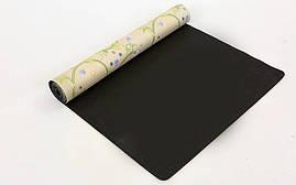 Коврик для йоги Замшевый каучуковый двухслойный 3мм Record FI-5662-30, фото 2