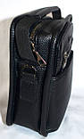 Мужская барсетка из искусственной кожи хорошего качества 18*22 см (черный), фото 2