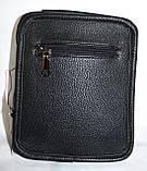 Мужская барсетка из искусственной кожи хорошего качества 18*22 см (черный), фото 3