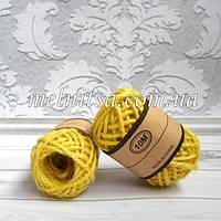 Шнур джутовый, 2 мм, цвет желтый, 1 моток -10 м