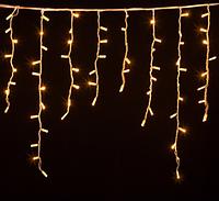 Гирлянда уличная бахрома DELUX ICICLE 120LED  2*0,9м тепл.белая (бел. кабель), фото 1
