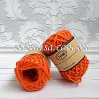 Шнур джутовый, 2 мм, цвет оранжевый, 1 моток -10 м