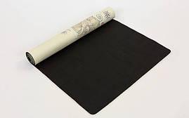 Коврик для йоги Замшевый каучуковый двухслойный 3мм Record FI-5662-32 , фото 2