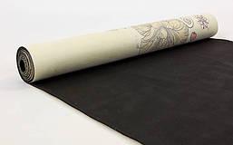 Коврик для йоги Замшевый каучуковый двухслойный 3мм Record FI-5662-32 , фото 3