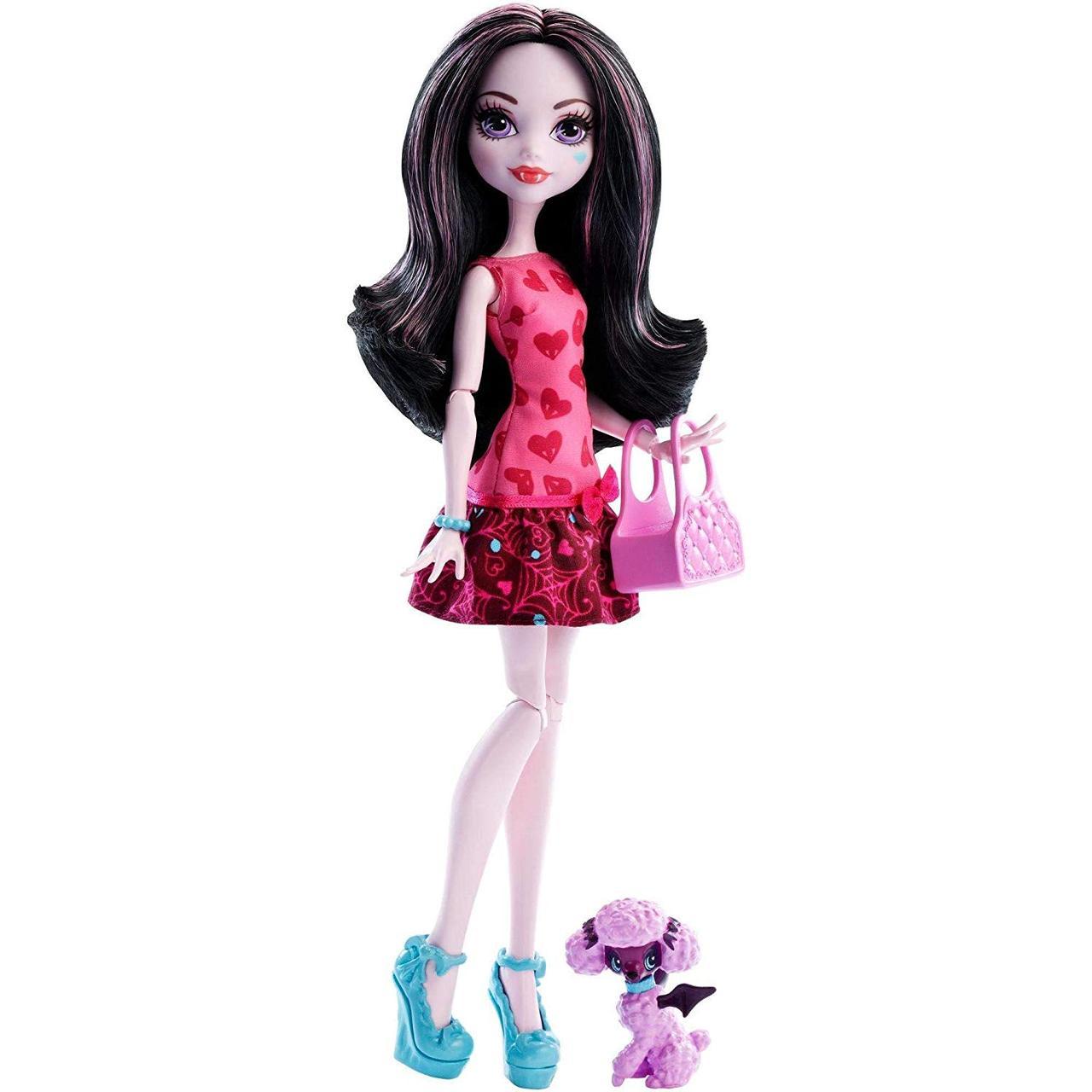 Кукла Монстер Хай Дракулаура с питомцем Monster High Draculaura Ghoul's Beast Pet