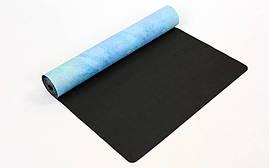 Коврик для йоги Замшевый каучуковый двухслойный 3мм Record FI-5662-33, фото 3