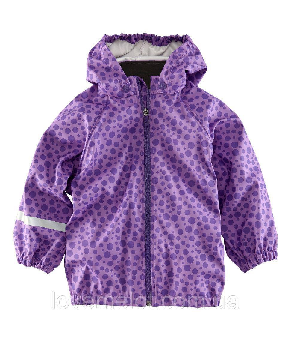 """Куртка детская сиреневая, плащ детский, дождевик для девочки H&M """"Капелька"""" рост 98-104 см"""